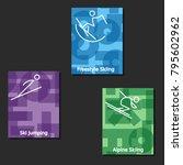 winter sport banners  eps10    | Shutterstock .eps vector #795602962
