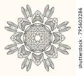 decorative mandala. vector... | Shutterstock .eps vector #795603286