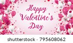balloons with hearts and text... | Shutterstock .eps vector #795608062