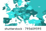 political map of europe and... | Shutterstock .eps vector #795609595