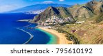beautiful beaches of tenerife...   Shutterstock . vector #795610192