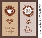 vector coffee shop or brand... | Shutterstock .eps vector #795618055