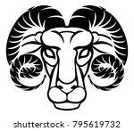 astrology zodiac signs circular ... | Shutterstock .eps vector #795619732