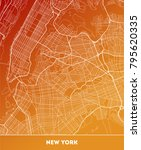 vector city map of new york... | Shutterstock .eps vector #795620335
