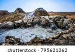 mud volcanoes of gobustan near... | Shutterstock . vector #795621262