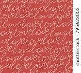 valentines pattern with... | Shutterstock .eps vector #795623002