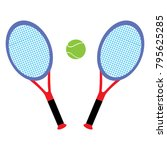 tennis rackets and tennis ball | Shutterstock .eps vector #795625285