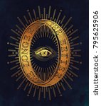 ornate mystic eye inside the... | Shutterstock .eps vector #795625906