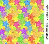 seamless pattern for childish... | Shutterstock .eps vector #795626632