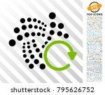 iota repeat arrow icon with 7... | Shutterstock .eps vector #795626752