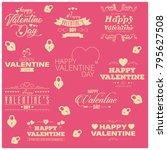 valentine typographic vector... | Shutterstock .eps vector #795627508