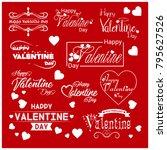valentine typographic vector | Shutterstock .eps vector #795627526