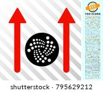 iota send arrows icon with 700... | Shutterstock .eps vector #795629212