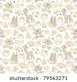 Stock vector seamless baby background 79563271
