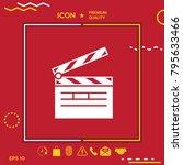 clapperboard symbol icon   Shutterstock .eps vector #795633466