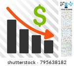 recession trend icon with 7... | Shutterstock .eps vector #795638182