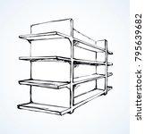 long blank pos board row box... | Shutterstock .eps vector #795639682