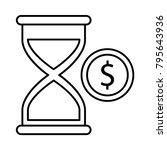 hourglass stopwatch timer | Shutterstock .eps vector #795643936