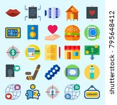 icons set about lifestyle. with ... | Shutterstock .eps vector #795648412