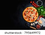 traditional italian pizza ... | Shutterstock . vector #795649972