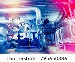 industrial factory. various... | Shutterstock . vector #795650386