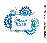 color flyer for spring sale... | Shutterstock .eps vector #795652636
