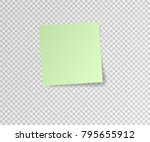 paper sticker with shadow on... | Shutterstock .eps vector #795655912