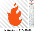 fire pictograph with 700 bonus... | Shutterstock .eps vector #795657898