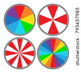 set of simple colorful vector... | Shutterstock .eps vector #795657985