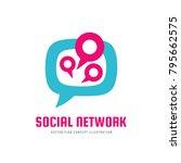 social media network   vector...   Shutterstock .eps vector #795662575