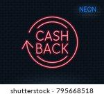 neon light. cashback service...   Shutterstock .eps vector #795668518