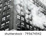 New York Building Facade Black...