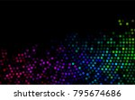 dark multicolor  rainbow vector ... | Shutterstock .eps vector #795674686