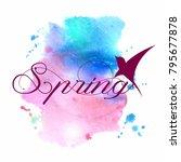 luxury lilac watercolor... | Shutterstock .eps vector #795677878