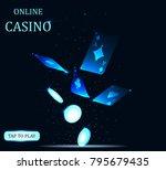 online big slots casino banner  ... | Shutterstock .eps vector #795679435