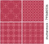 geometric patterns. set of pale ... | Shutterstock .eps vector #795680536