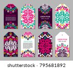 bright colorful vertical tag... | Shutterstock .eps vector #795681892