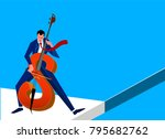businessman is playing on... | Shutterstock .eps vector #795682762