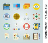 icon set about marketing. with... | Shutterstock .eps vector #795683512
