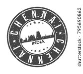 chennai india asia stamp logo... | Shutterstock .eps vector #795690862
