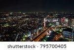 night light yokohama cityscape... | Shutterstock . vector #795700405