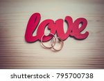 the inscription is love.... | Shutterstock . vector #795700738