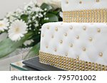 weeding cake detail | Shutterstock . vector #795701002