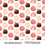seamless pattern colorful... | Shutterstock .eps vector #795704635