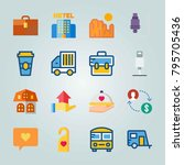 icon set about travel. with... | Shutterstock .eps vector #795705436