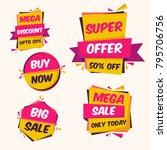 modern attractive shopping... | Shutterstock .eps vector #795706756