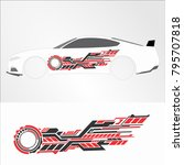 vinyls   decals for car modif... | Shutterstock .eps vector #795707818