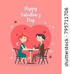 valentines day vector... | Shutterstock .eps vector #795711706