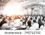 abstract blur conference room... | Shutterstock . vector #795712732