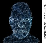 human head with in 3d space... | Shutterstock . vector #795713878
